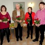 Avtackade styrelseledamöter Martina, Christer, Brith-Louise och Mats