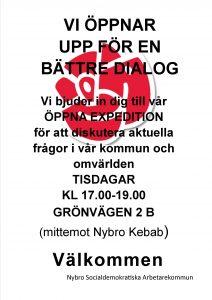 Affisch öppen exp1